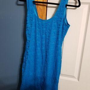 Charlotte Russe Blue Lace Body Con Dress